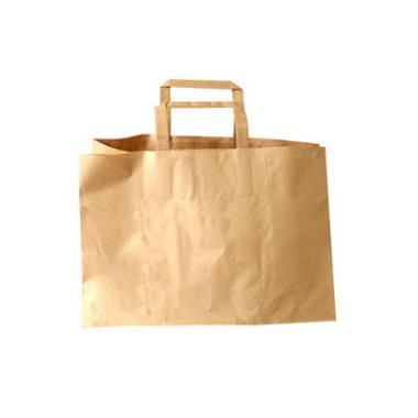 Bærepose papir brun 17L 35x24,5cm 200stk