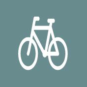 Cykelsymbol hvid 60cm 5stk t/asfalt
