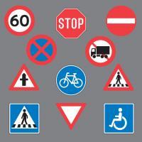 Trafiktavler til asfalt