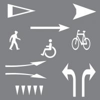 Symboler & Pile til asfalt
