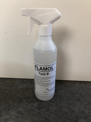 Flamol B f/tekstil-stof-papir 0,5l Spray