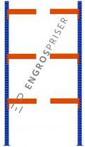 Lagerreol L:115xD:50xH:250cm 3 hylder