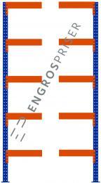 Lagerreol L:150xD:80xH:250cm 5 hylder