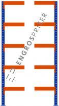 Lagerreol L:95xD:100xH:250cm 5 hylder