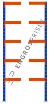 Lagerreol L:95xD:120xH:300cm 5 hylder