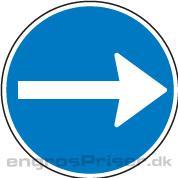 Påbudt Kørsel 50cm D11.3 tavle