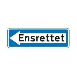 Ensrettet Venstrev. E19.1 33x100cm