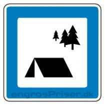 Primitiv teltplads M30 70x70cm