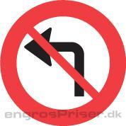 Venstresving forbud 70cm dobb.