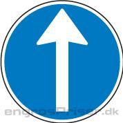 Påbudt Kørsel 30cm D11.1 dobb.