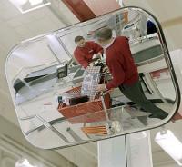 Spejl konveks 40x60cm Hvid