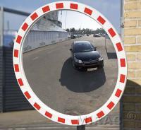 Trafikspejl rund Ø80cm m/ramme