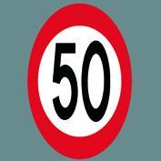 C55 Hastighedsskilt asfalt Ø75 t/asfalt 2 stk