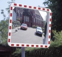 Trafikspejl firk 80x100 m/ram