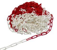 Plastkæde 25M Rød/hvid