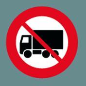 C23.1 Lastbil forbudt Ø100cm t/asfalt 1 stk