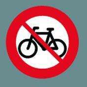 C25.1 Cykel forbudt klæb Ø100cm t/asfalt 1 stk
