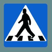 E17 Fodgængerskilt f/asfalt 1 stk